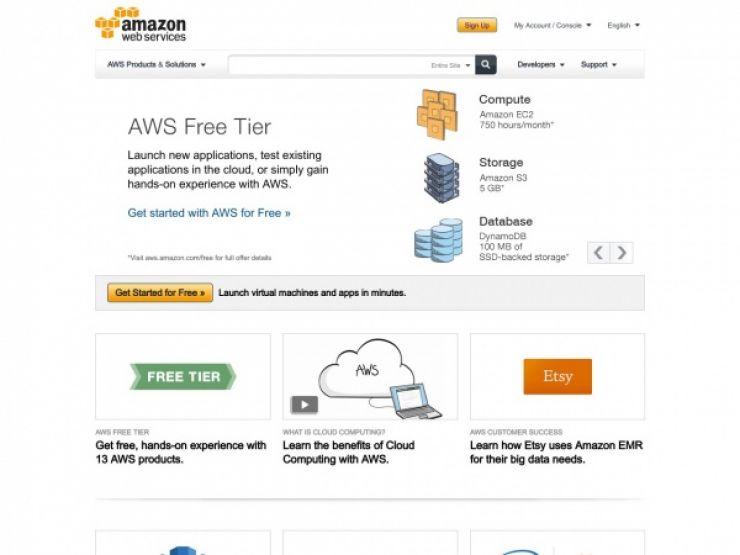 aws.amazon.com Screenshot