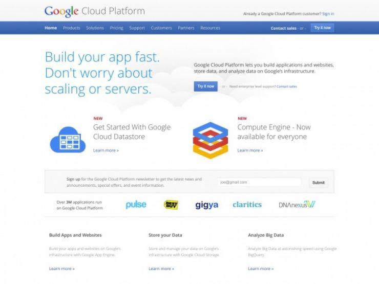 cloud.google.com Screenshot
