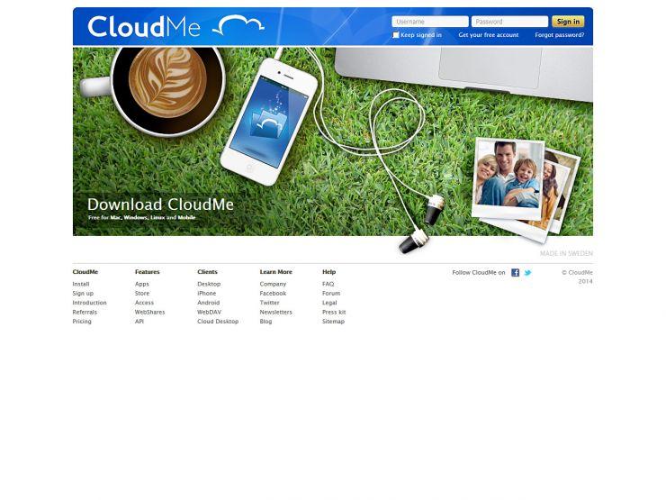 cloudme.com Screenshot