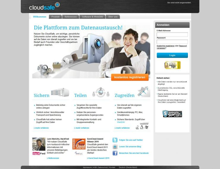 cloudsafe.com Screenshot