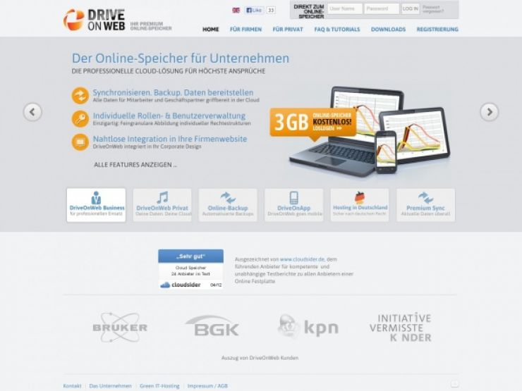 driveonweb.de Screenshot