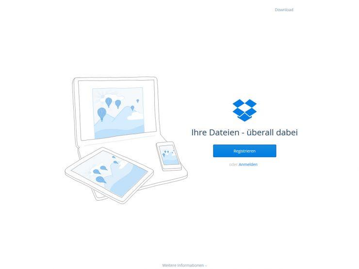 dropbox.com Screenshot