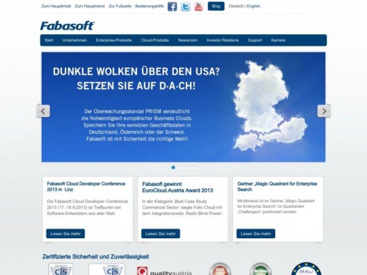 fabasoft.com Screenshot