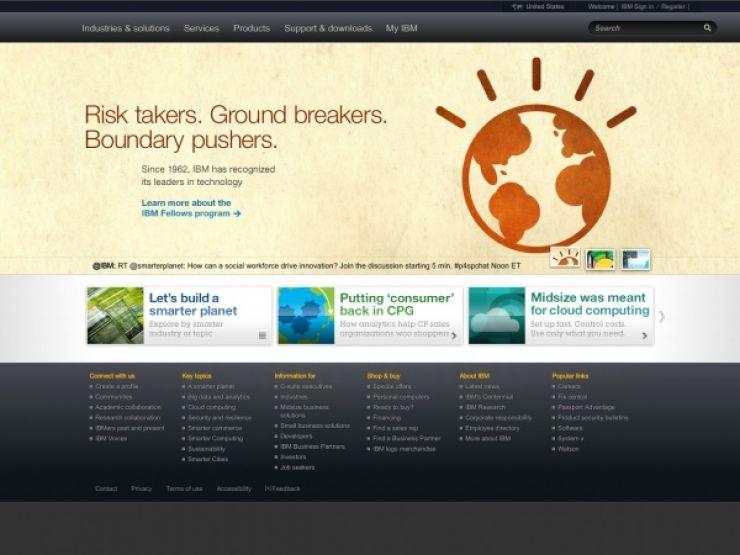 ibm.com Screenshot
