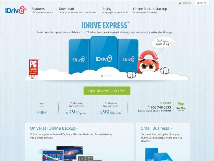 idrive.com Screenshot