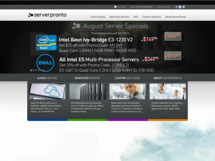 serverpronto.com Screenshot