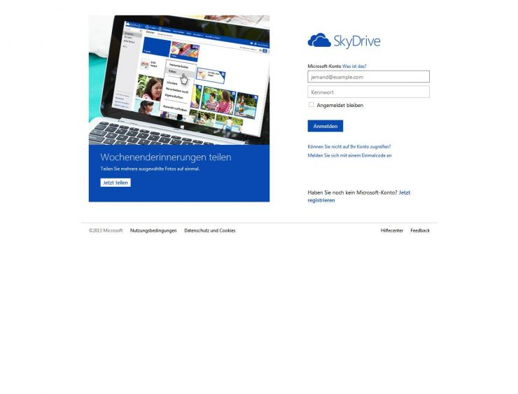 skydrive.com Screenshot