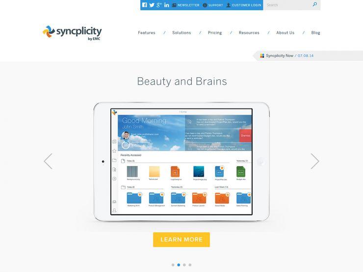 syncplicity.com Screenshot