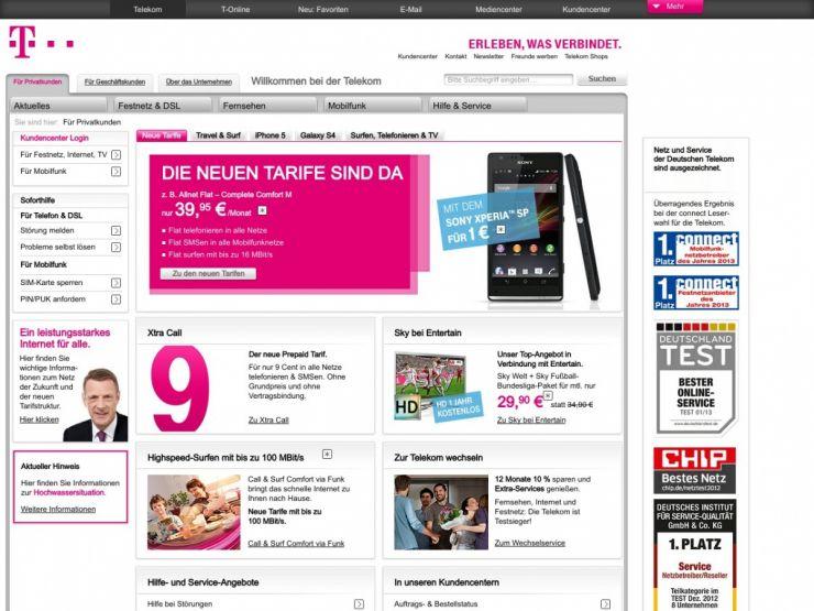 telekom.de Screenshot