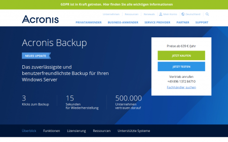 Acronis Windows Server Business
