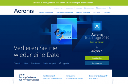 Acronis Backup für MAC