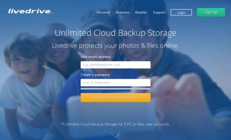 Livedrive Backup mit unlimitiertem Speicher