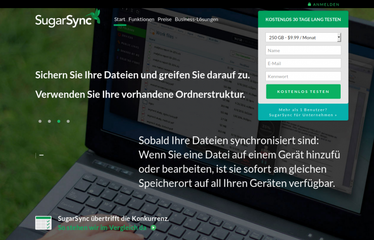 Sugarsync Backup für Filme